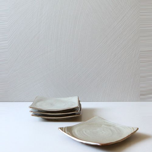 Casual line Oatmeal Round Square Plate 15, set of 4 / $62.00