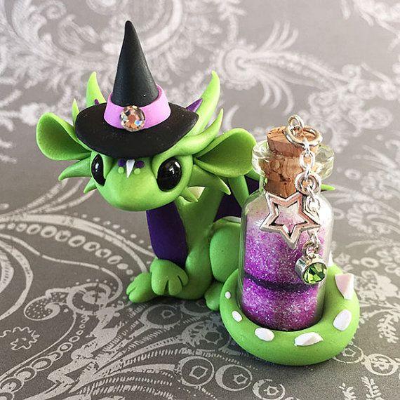 Green Witch Dragon von DragonsAndBeasties auf Etsy