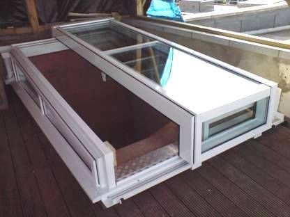 Click For Larger View - Contemporary Sliding Roof Access Hatch & Best 25+ Roof access hatch ideas on Pinterest | Roof hatch Roof ... pezcame.com
