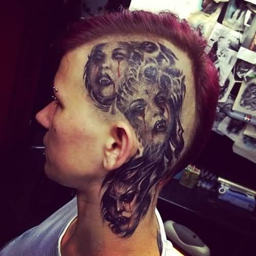 42 best side head tattoo images on pinterest head for Tattoos on side of head