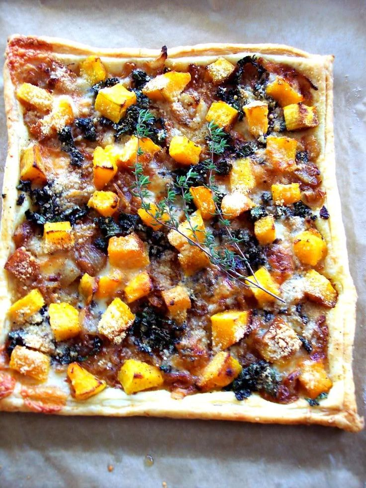 Butternut Squash Tart with Caramelized Onions and Kale - Proud Italian Cook