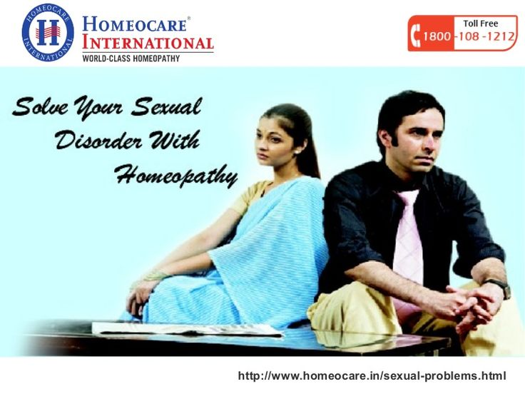Now a days due to work tensions people are unable to satisfy their partner. It will happen due to sexual disorders in both men & women. They are stress, depressions, low sex drive, erectile dysfunction, impotence, low testosterone, etc. Each sexual problem cures permanently through Homeopathy at Homeocare International without causing any side effects.