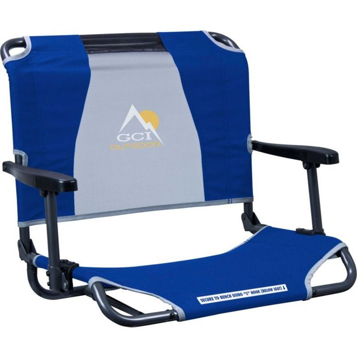 GCI Outdoor Big Comfort Stadium Chair with Armrests, Blue