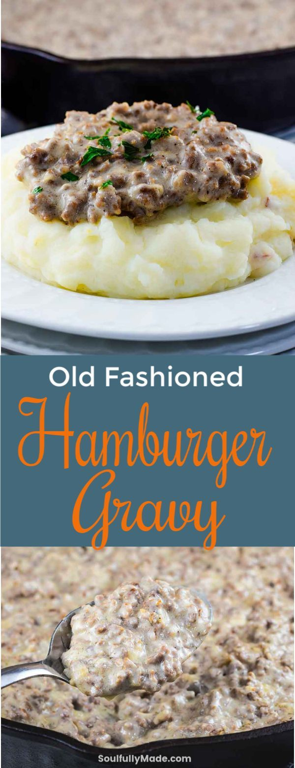 Creamed Hamburger Gravy is an old fashioned classic dish made of ground beef, cr…