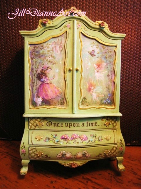 "Wow, this is great for a little girl, even a little over done!  ""Finding Fairies"" children's cupboard."