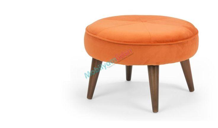 Ayaklı Puf - Turuncu #mobilyamgelsin  #Dekorasyon #alisveris #HomeDesign #Shopping #design #tasarim #puf #pouffe #mobilya