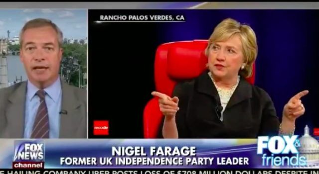 "NAILS IT! NIGEL FARAGE Says What Americans are Thinking About ""Pathetic"" Hillary Clinton [Video]"