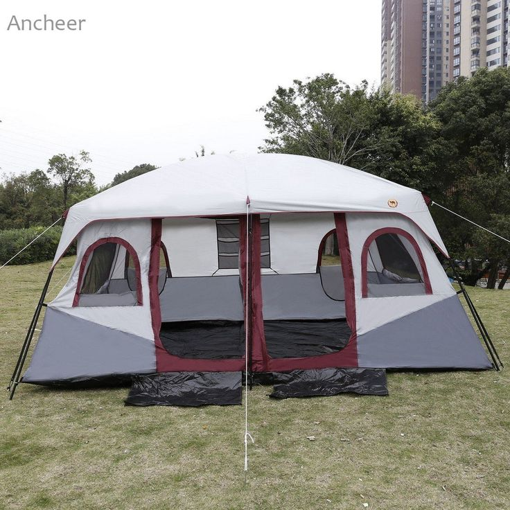 8-10 Person, 2-Bedroom Tent with Rain Fly (2 colors available)