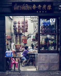 Yoawarat road, le quartier chinois de Bangkok - Thailande