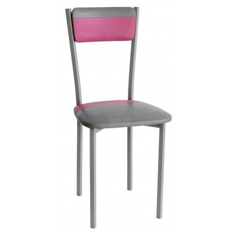 Pack de cuatro sillas para salón,comedor o cocina con estructura metálica con recubrimiento epoxi-poliester en color acero pintado con tapizado en varios colores disponibles.