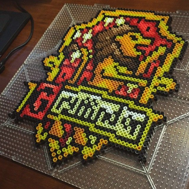 Gryffindor - Harry Potter perler beads by Nick Galilei