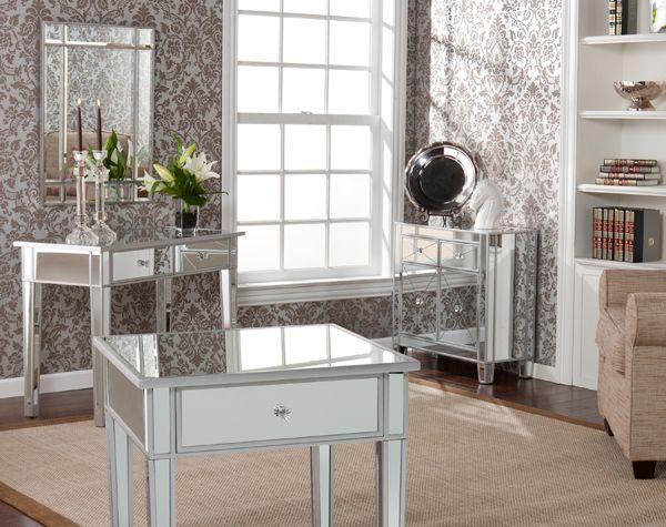 mirrored furniture decor. hollywood regency style mirrored bedroom furniture nightstand night stand new decor r