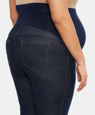 Motherhood Maternity Plus Size Leggings - Blue 1X 11