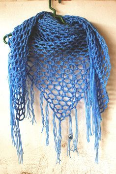 How to crochet triangle scarf