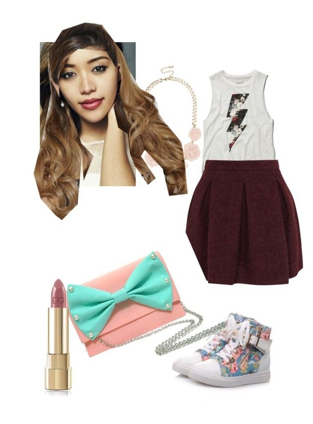 """""""MICHELE PHAN"""" by evagutowski ❤ liked on Polyvore featuring beauty, Abercrombie & Fitch, Karl Lagerfeld, Pangmama and Dolce&Gabbana"""