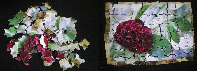 http://cartulina.es/proyectos-de-reciclaje-puzzle/ Puzzle hecho a mano