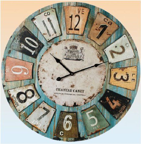 "Extra Large Wall Clock 23"" 59cm Bold Centrepiece Wallclock or Mantel Clock Out of the Blue http://www.amazon.co.uk/dp/B00BDHN5UG/ref=cm_sw_r_pi_dp_2KpCub06JJV78"