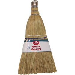 DQB Whisk Broom, 11 Inch Overall Length, Corn and Grass Mix, 24/Pack