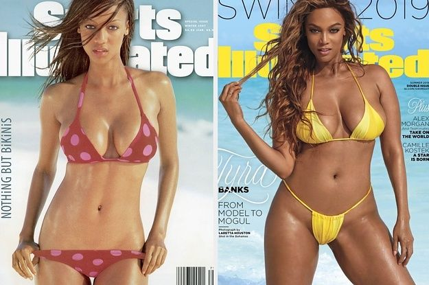 Tyra Banks Is Back On The Sports Illustrated Swimsuit Cover 22 Years Later Sports Illustrated Swimsuit Covers Sports Illustrated Swimsuit Sports Illustrated