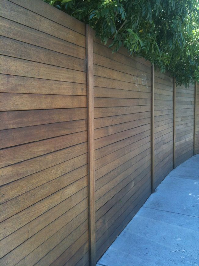 NEIGHBOURS HAVE REJECTED THIS TYPE OF FENCE. This was someone's fence I passed. I liked it. And, being laid horizontally, you could probably make it as high as you like (we want extra-high fences)