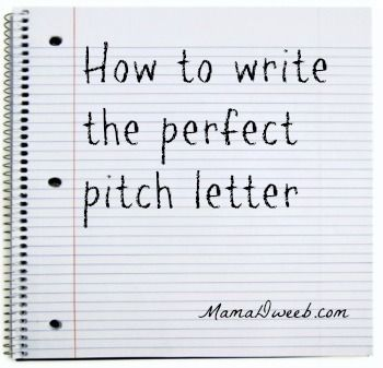 how to write a pitch letter for an event