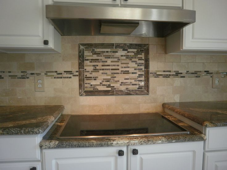 """Travertine with Inlaid Rectangular Mosaic Tiles"" At DeStefano Remodeling in North Texas we desire to be your full service contractor on your next project. Visit our website www.destefano.co/ to see some of our completed custom projects and our Pinterest page pinterest.com/... where we have a library of pictures to help you get inspired for your next residential or commercial project."
