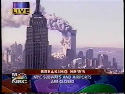 MSNBC Live Coverage of September 11,  2001 (Part 1 of 2)