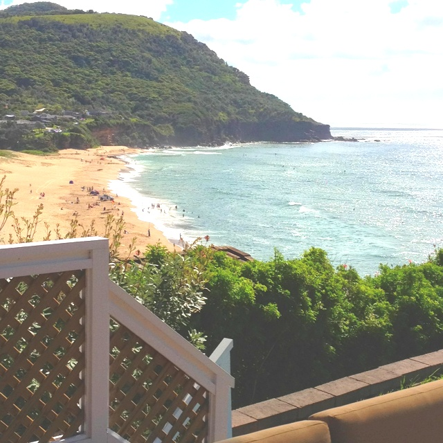 Stanwell Park - inspiration for Leo's beach