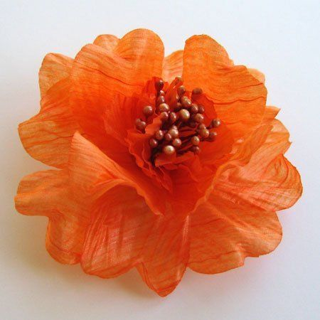 Sara Monica Flower Hair Clip and Pin Zinnia_Orange by Sara Monica LLC. $3.99. Fabric Flowers. Color and Styles for all Occasions. Dual Hair and Pin Clip Backing. Large Variety of Colors and Styles. Approximately 3.5 inches in diameter. Sara Monica Fashion Accessories Fabric Flower Hair Alligator Clip and Pin.
