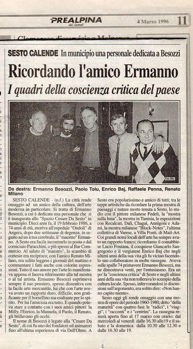 1996 Giornale la Prealpina Varese