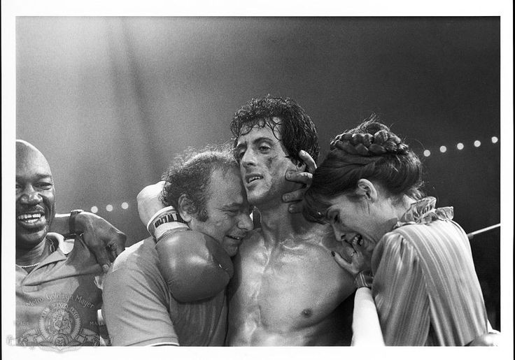 Sylvester Stallone Talia Shire And Burt Young In Rocky III