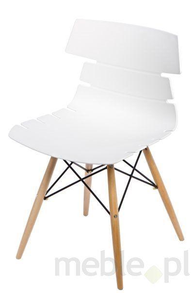 Krzesło Techno DSW w kolorze białym