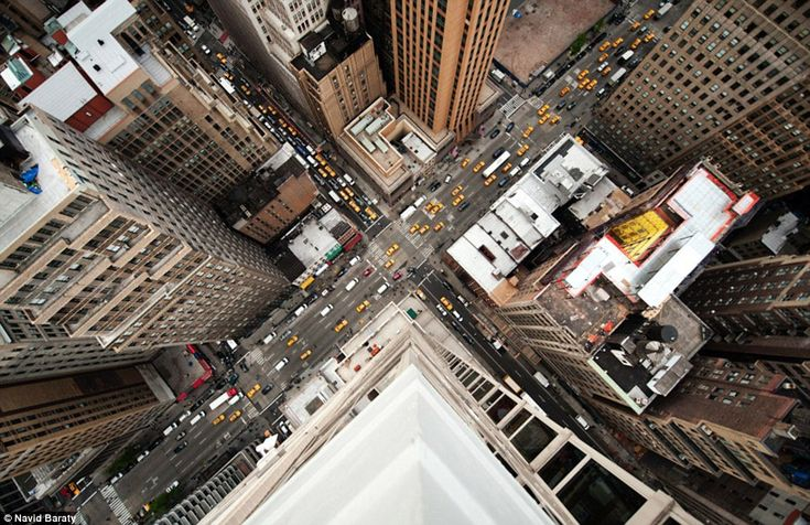 Living on the edge: Photographer leans over side of New York City skyscrapers to capture vertigo-inducing picturesPhotos, New York Cities, Navid Baraty, Cities Street, Aerial Photography, New York City, Nyc, The Waves, Newyork