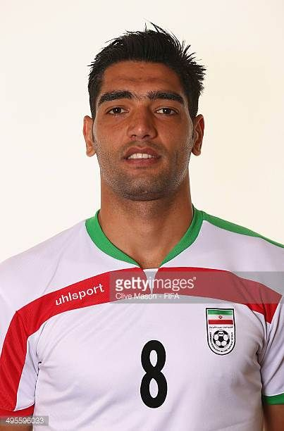 Reza Haghighi of Iran poses during the official FIFA World Cup 2014 portrait session on June 4 2014 in Sao Paulo Brazil