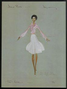 Diana Ross - Dorothy Wiz Sketch by Tony Walton costume designer for the Wiz