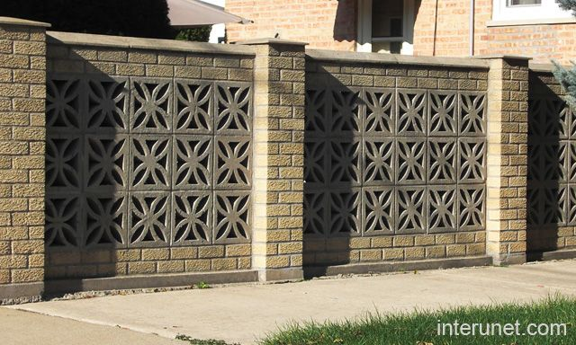 brick fence decorative blocks florida style Pinterest Brick