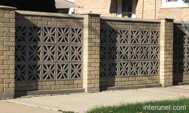 Decorative Brick Walls : Brick fence decorative blocks florida style pinterest