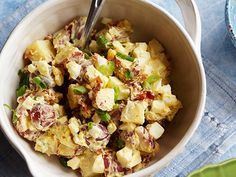 Best potato salad ever! I fried the potatoes in the bacon grease and it made the potatoes melt in your mouth! Texas Country Potato Salad Recipe : Paula Deen : Recipes : Food Network