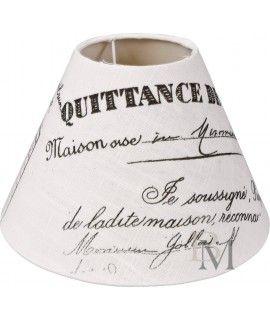 #Abażur Maison biały