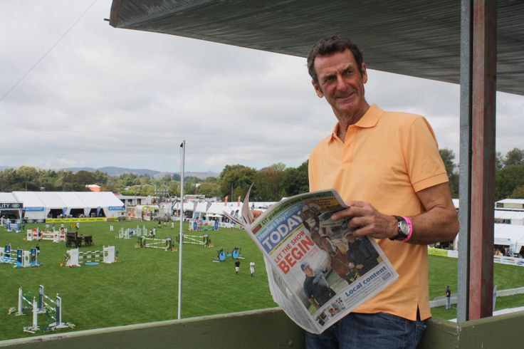 Eventing legend Sir Mark Todd arrived at the showgrounds today and will be competing.