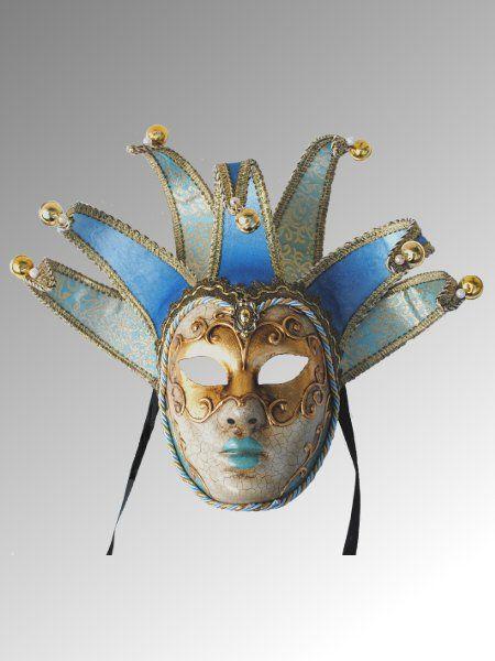 Jolly - Azzurro Effetto antico   Maschere Veneziane