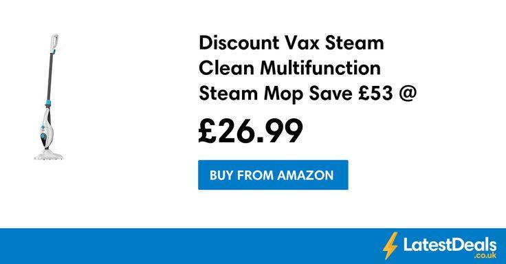 Discount Vax Steam Clean Multifunction Steam Mop Save £53 @ Amazon, £26.99 at Amazon
