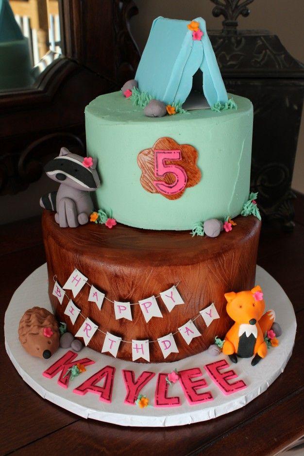 Girl Camping Cake