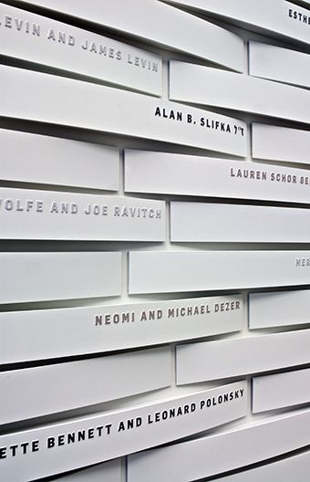 """Just another idea of an """"installation"""" - again, thinking if we found something like this we could slowly add the names to the pieces with vinyl letters... probably too fancy."""