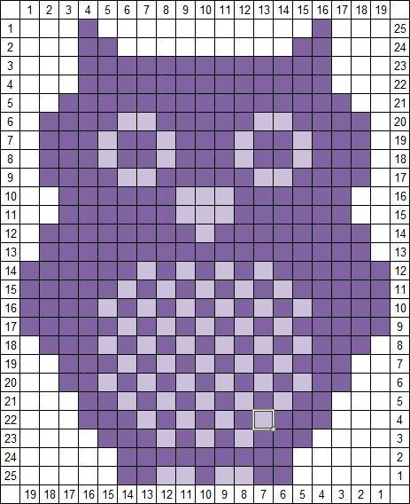 Batman Knitting Chart Pattern : AgnesBartons Blog: Eulenhakelmuster / Owl Crochet Chart knitting motif...