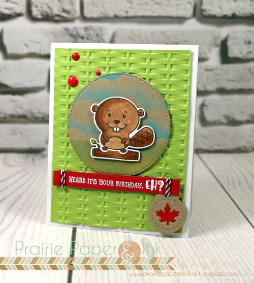 SnS Busy Beaver Canada Day Blog Hop   Copic Markers
