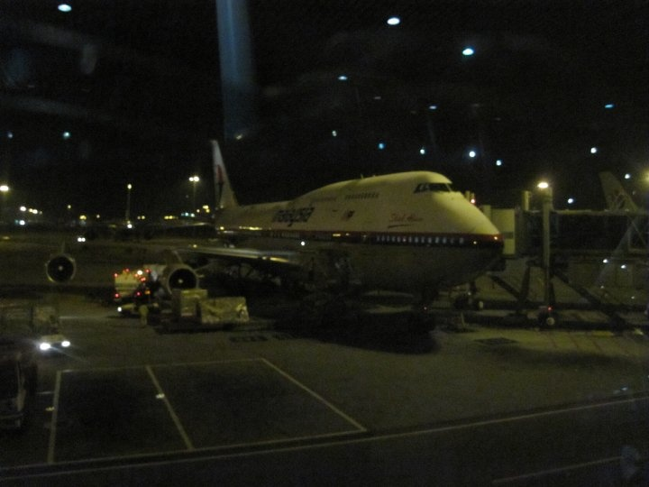 Malaysia Airlines 747-400 Shah-Alam at Kuala Lumpur waiting to leave for London Heathrow