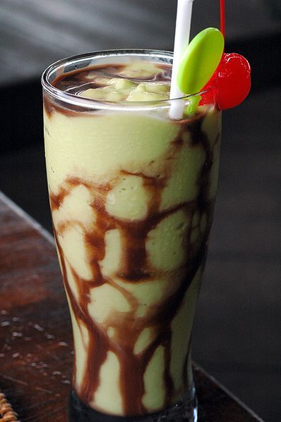 Indonesian Avocado Shake. I really want to try one of these! #avocado #milkshake
