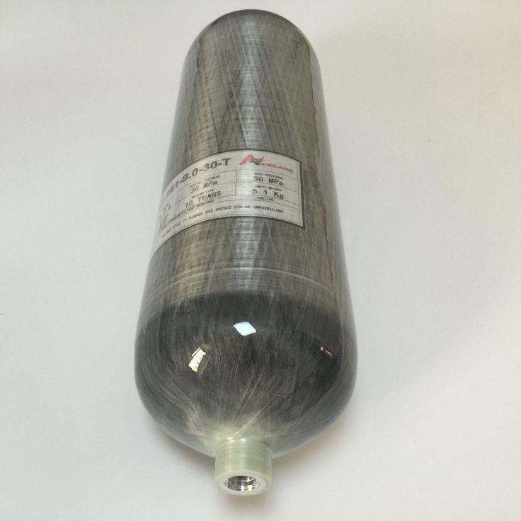 9L SCUBA TANK 4500 PSI Koolstofvezel Cilinder voor air gun jacht + RODE KLEP + VULLEN STATION + BOOT