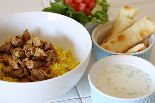 Halal Cart-Style Chicken and Rice with White Sauce from @Esi @Dishing ...
